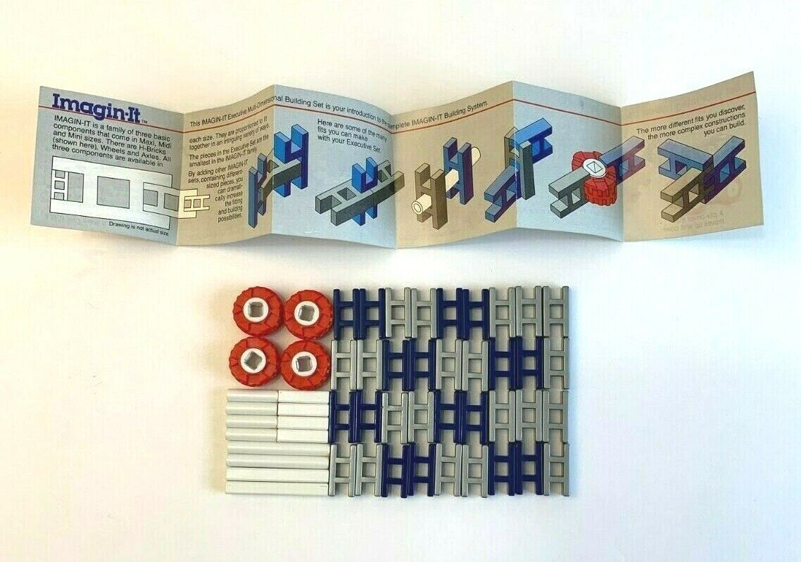 IMAGIN-IT Executive Multi Dimensional Building Set VINTAGE 1984 West Germany Toy