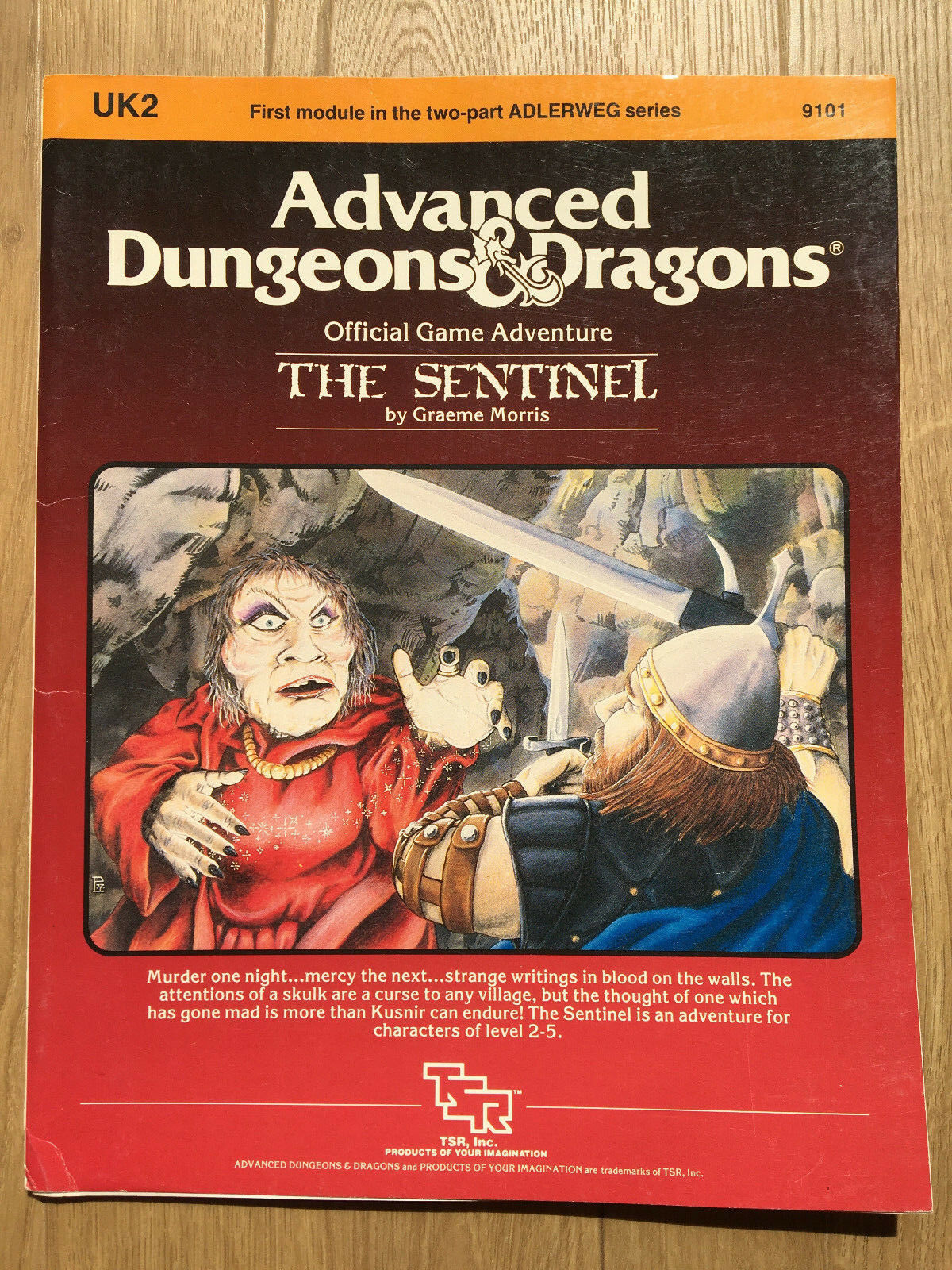 The Sentinel AD&D First Edition Adventure (UK2) - TSR 9101