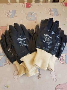 BARGAIN 10 x Trade Quality Criss Cross Grip Work Gardening Gloves UK STOCK