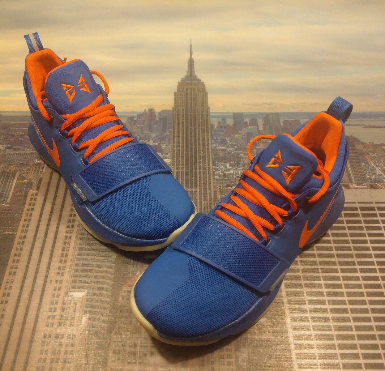 Nike iD PG 1 Paul George 1 Blue/Orange-Glow In The Dark Size 8 AQ2790 992 New
