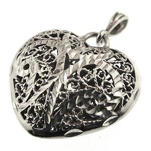 Clyde-Duneier-Filigree-Heart-Pendant-Sterling-Diamond-Cut-CI-925-Valentines-Day