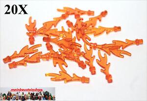 20X-Lego-6126-Flammen-Feuer-Fackel-transparent-Orange