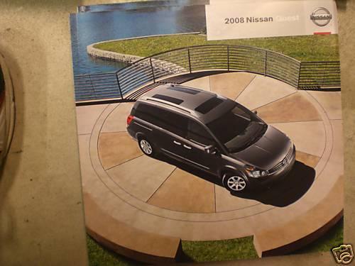 2008 08 Nissan Quest promo sale brochure
