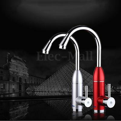 LED Electric Faucet Instant Water Heater Bathroom Kitchen Tankless Hot&Cold Tap