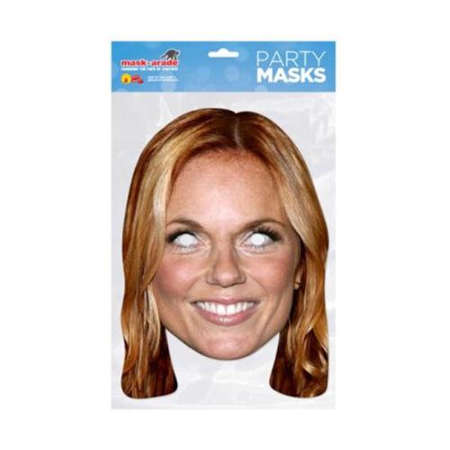 POPSTAR Célébrité Visage Masque Fancy Dress Party SPICE GIRLS Queen Rock divers