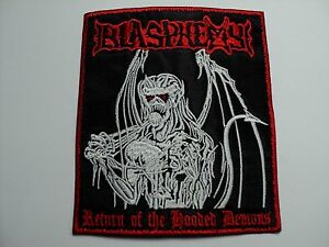 blasphemy return of the hooded demons EMBROIDERED PATCH