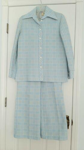 Vtg 60s 70s Womens ZIO Polyester Pant Suit Mod Jac