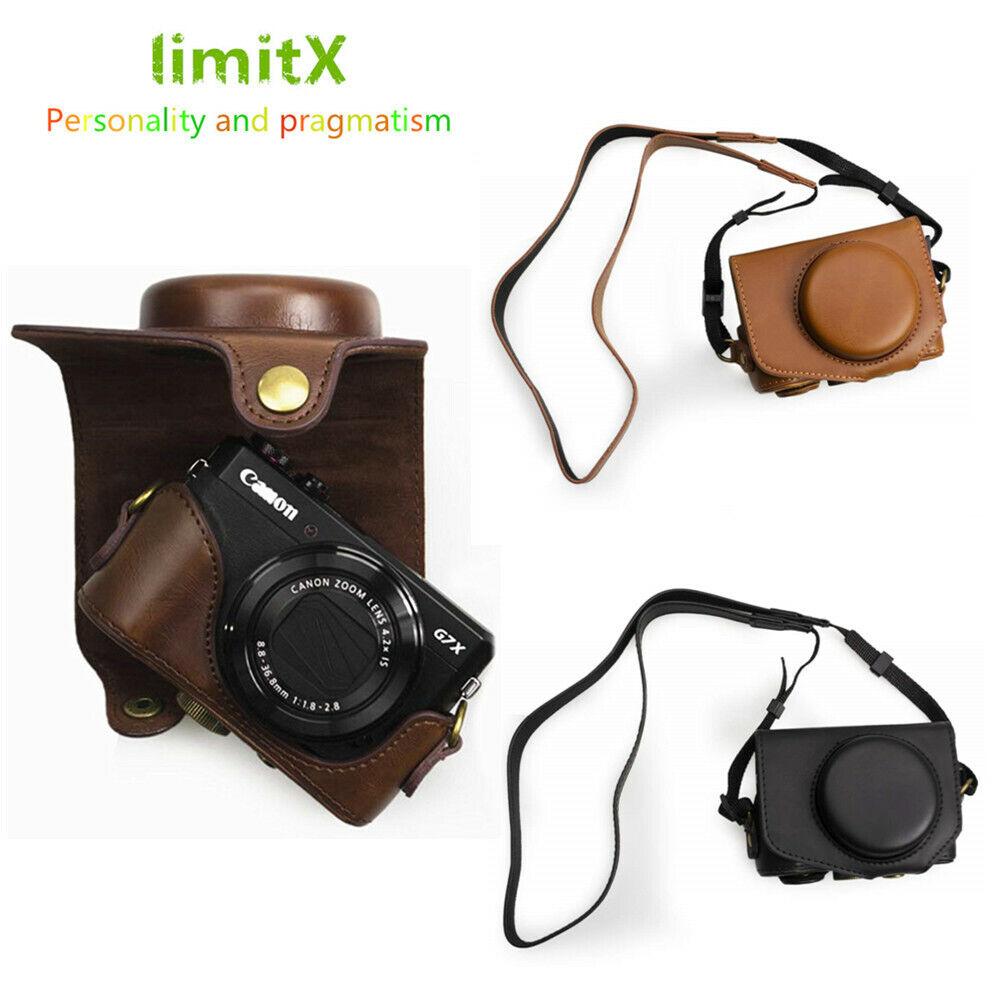 Retro PU Leather Camera bag hard case cover for Canon Powershot G7X Mark II III