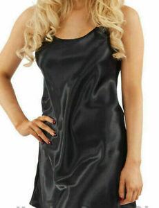 Ladies-Satin-Short-Slip-Nighty-8-10-Chemise-Glamorous-Nightdress-Nightwear