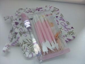 Geschenkset Backen Topflappen Mit Lavendelmotiv Und Rosa Modellierwerkz.+pinsel Relieving Rheumatism Other Baking Accessories