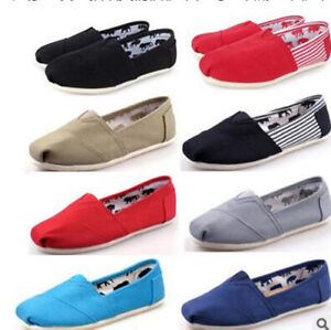 Fashion-Women-Classics-TOM-Loafers-Canvas-Slip-On-Flats-shoes-Size-6-10-T