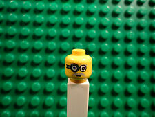 Lego mini figure 1 Yellow head with double sided face and eye piece #1