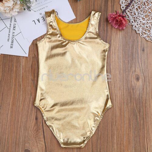 Gymnastikanzug Lack Leder Ballett Gymnastik Tanz Anzug Trikot für Kinder Mädchen