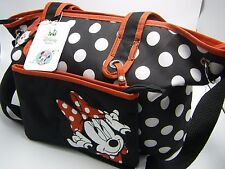 Item 5 Nwt Disney Baby Diaper Bag 4 Piece Tote Set Minnie Mouse Black Red White