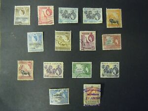 KENYA-UGANDA-amp-TANGANYIKA-1954-SET-TO-1-SG-167-180-USED