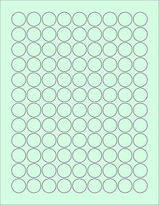 648-3-4-034-ROUND-CIRCLE-BLANK-GREEN-STICKERS-LABEL-KISSES-STANDARD-SIZE-8-1-2-X-11