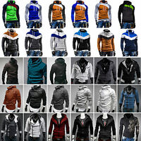 Mens Casual Jackets Sweatshirt Size S M L XL Hoody Zip Up Coat Hoodies Tops Thin