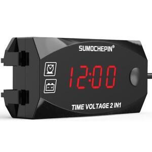 Mini 12V Led Waterproof Display Voltmeter Car Voltage Volt Gauge Panel Meter NEW