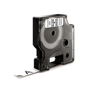 Dymo D1 45013 Black on White S0720530 12mm x 7M  Label Cassette Genuine Original 4417323450133