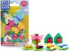 IWAKO Puzzle Eraser / Insect Eraser Blister Set (Japan Import)