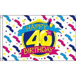HAPPY 70th BIRTHDAY FLAG 5FT X 3FT