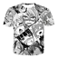 New Women Men Anime Girls Ahegao Cute Print Casual 3D T-Shirt Short Sleeve Tee