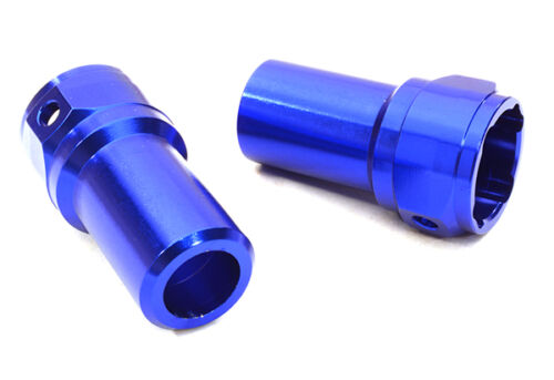 OBM-1207BLUE Integy CNC Straight Axle R Lock-Out for Axial 1//10 SCX-10 Crawler