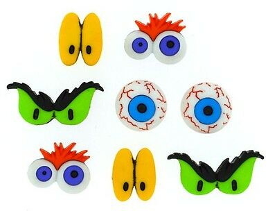 JESSE JAMES BUTTONS ~ DRESS IT UP BUTTONS ~ HALLOWEEN MONSTER EYES 8047 ~ CRAFTS
