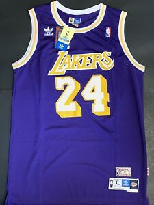 new product 49f2c 75d37 Details about Kobe Bryant Los Angeles Lakers Purple Throwback Retro #24  Jersey
