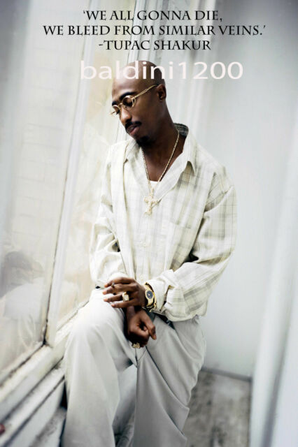 TUPAC SHAKUR - BEAUTIFUL POSTER PRINT WITH QUOTE - LOOKS AWESOME FRAMED