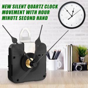 Quartz-Wall-Clock-Movement-Mechanism-Hands-DIY-Repair-Tool-Parts-Kit-1-5-V-Black