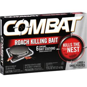 Combat-ROACH-KILLING-BAIT-STATION-Kills-The-Nest-LARGE-amp-SMALL-ROACHES-6ct