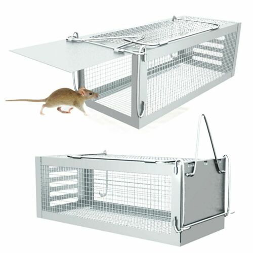 Rat Trap Cage Small Live Animal Pest Rodent Mouse Control Catch Hunting Trap new