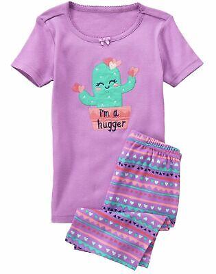 NWT GIRLS GYMBOREE GYMMIES PAJAMAS PJS SIZE 4 4T I/'M A HUGGER CACTUS shorts