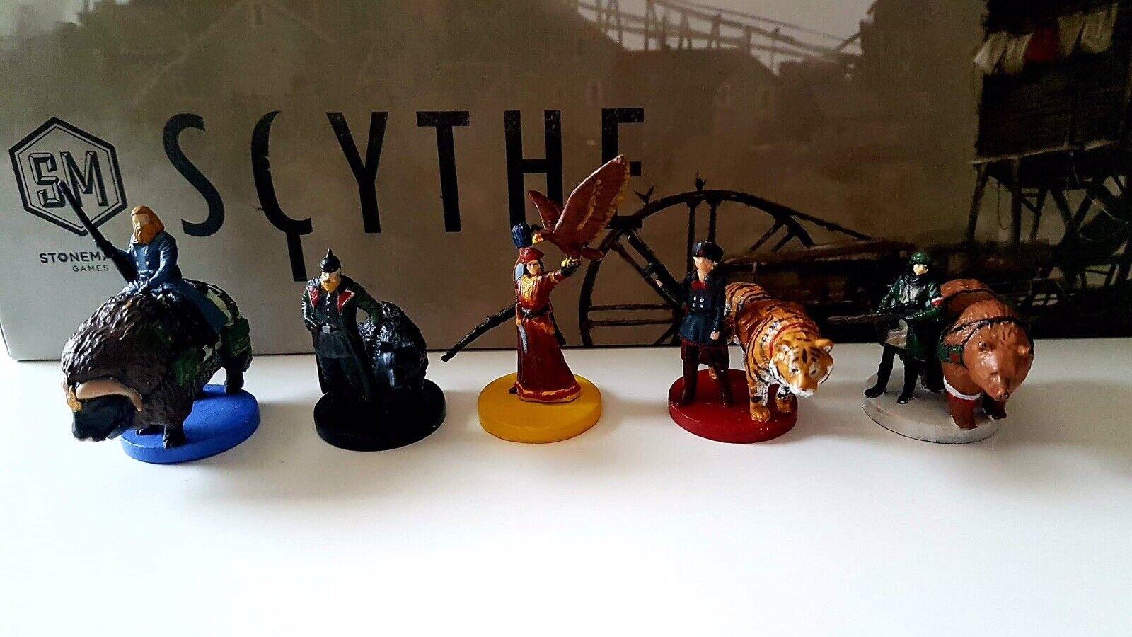 completare set painted Scythe cifras from base  gioco e tutti expansions (55 minis)  prezzi eccellenti
