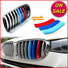 M Color Kidney Grill Grille Cover Decal Stripes Clips for BMW X4 F26 2014-2015