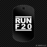 Run F20 Keychain Gi Dog Tag Engraved Many Colors F Series Jdm