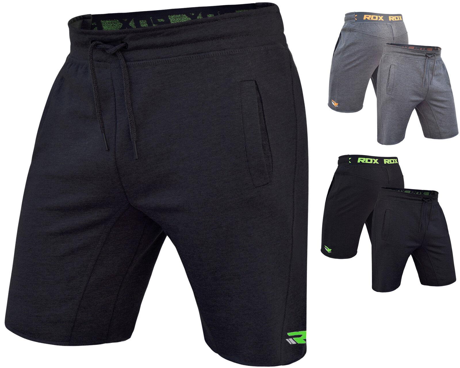 RDX europallets in Pile Pantaloncini MMA, UFC Palestra Fondo Da Uomo Sport da Palestra Pantaloni Pugilato in esecuzione