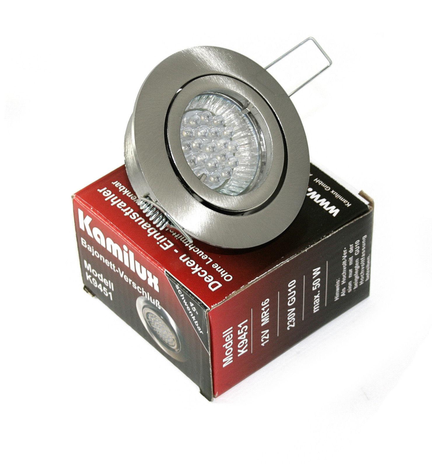 1,5 Watt LED Einbaustrahler Bajo 230V inkl 20er LED Leuchtmittel Downlights Spot
