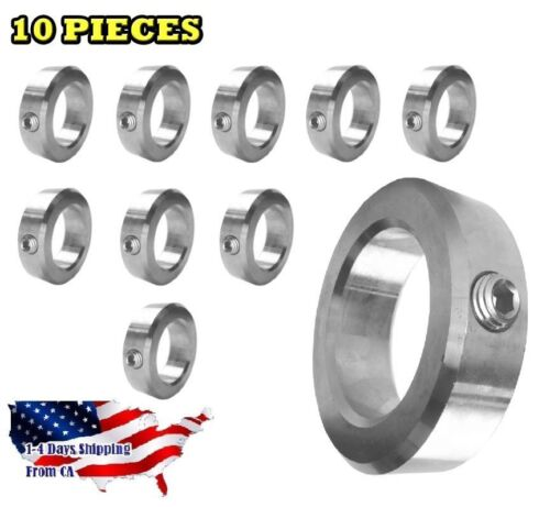 """3//4/"""" Bore Stainless Steel Shaft Collars Set Screw Style 10 PCS"""