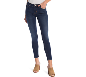 Hudson Jeans Krista Ankle Super Skinny Mid Rise Jeans in Lake Blue NWT MSRP $189