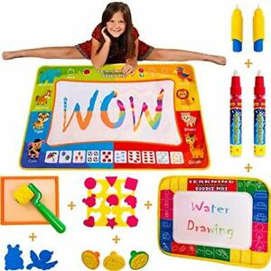 Details about AquaDoodle Mat NO MESS Water Coloring Kids Toddler Baby  Painting Art Set Gift