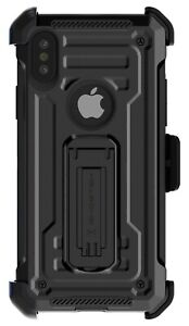 Belt Clip iPhone XR, XS, XS Max Hybrid Case with Kickstand Ghostek Iron Armor 2