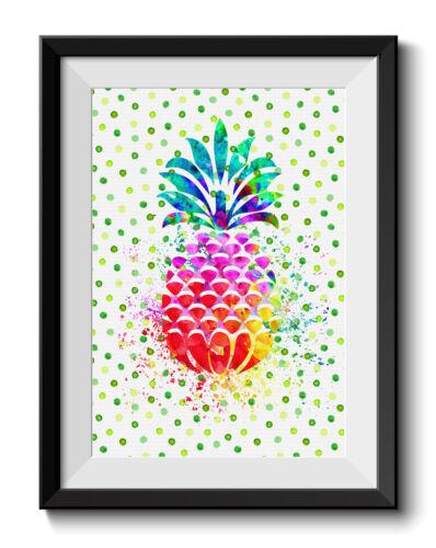 Uhomate Hawaiian Pineapple Tropical Fruit Pineapple Art Print Wall Decor C005