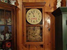 """Vintage large wood Coca Cola Clock:38""""Hx15 1/2""""W x5 1/2""""D"""