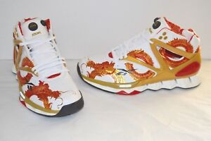 New Reebok Pump Hexride Yao Ming 2008 Olympic Dragon White Red Gold ... fdfebf1a6