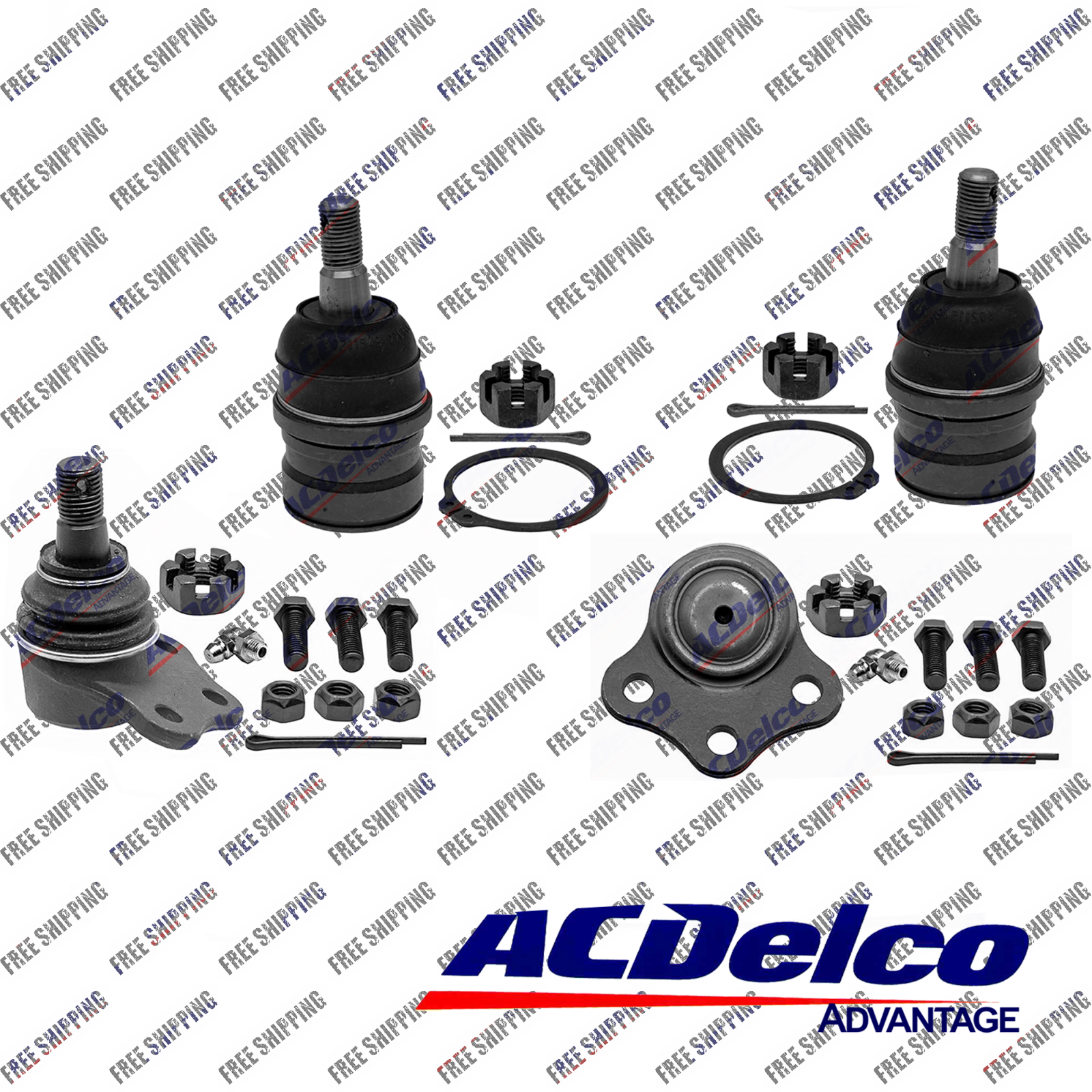 Front New ACdelco Suspension Ball Joint Upper Lower Set