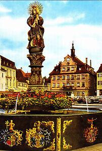 Schwaebisch-Gmuend-Marienbrunnen-u-oberer-Marktplatz-ungel-Ansichtskarte