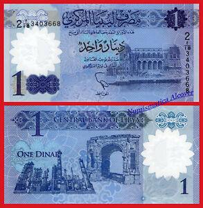 LIBIA-LIBYA-1-Dinar-2019-Polymer-Pick-NEW-SC-UNC