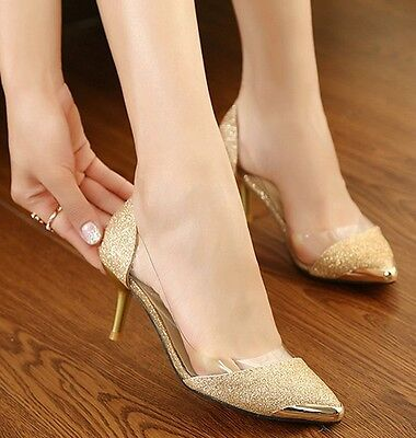 Women's Stilettos Pointy Toe Court Heels Pumps Work Office Shoes